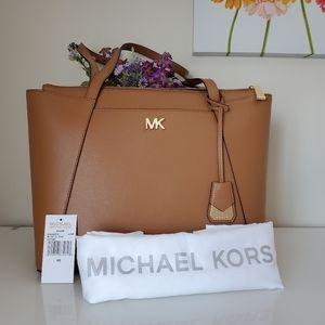 Michael Kors Maddie Crossgrain Leather Tote